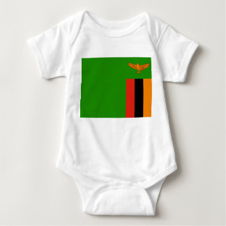 Zambia National World Flag Baby Bodysuit