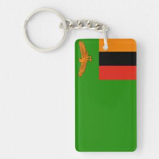 Zambia National World Flag Keychain