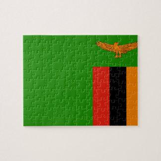 Zambia National World Flag Puzzles