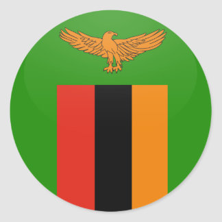 Zambia quality Flag Circle Classic Round Sticker