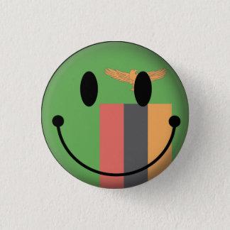 Zambia Smiley 1 Inch Round Button