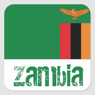 Zambia Square Sticker