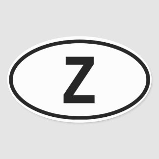 "Zambia ""Z"" Oval Sticker"