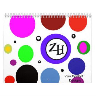 Zan Hanhof Original Artwork Calender! Wall Calendar