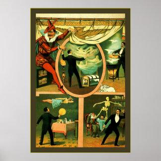 Zan Zig ~ Vintage Magician Poster