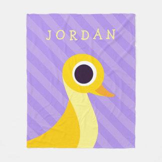 Zander the Duck Fleece Blanket