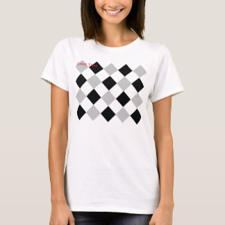 Zane Trae Girls Argyle Print T-Shirt