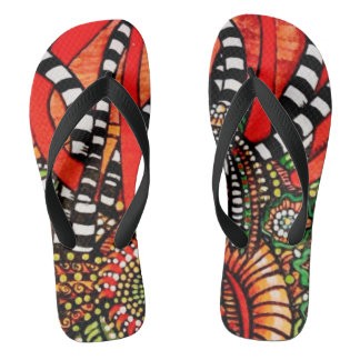 Zangles and Stripes flip flops