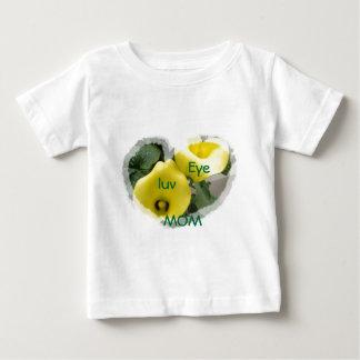 Zantedeschias et coeurs jaunes t-shirt pour bébé