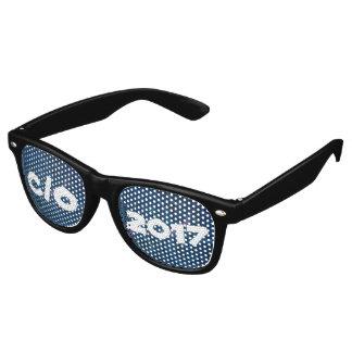 Zany Grad Pastel Doodles Blue Squiggly Chalkboard Retro Sunglasses