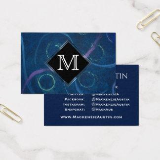 Zany Office | Trendy Chalk Chic Salon Social Media Business Card