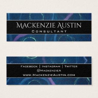 Zany Office | Trendy Chalk Pastel Fun Social Media Mini Business Card