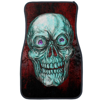 ZANY SKULL RED ART JACK JOYA CAR MAT