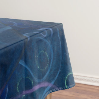 Zany Table   Pastel Fun Blue Chalk Cute Scribble Tablecloth