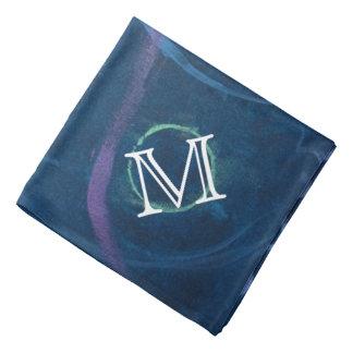 Zany Unique | Monogram Pastel Chalk Blue Scribble Bandana