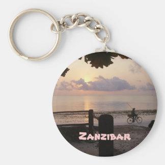 Zanzibar Basic Round Button Keychain