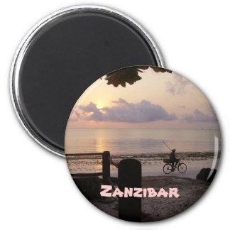 Zanzibar dawn 2 inch round magnet