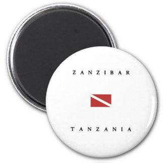 Zanzibar Tanzania Scuba Dive Flag Magnet