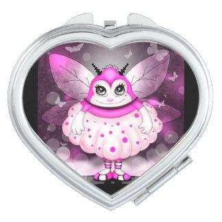 ZAP  CUTE CARTOON compact mirror HEART