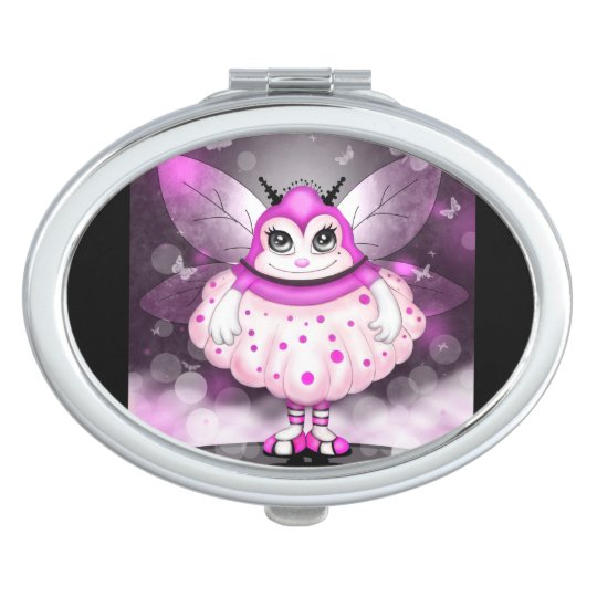 ZAP  CUTE CARTOON compact mirror OVAL