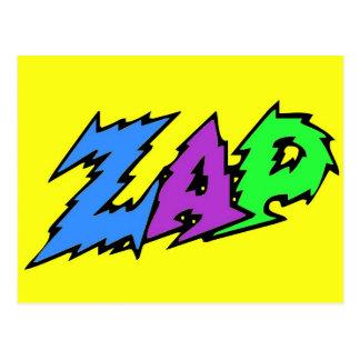 ZAP postcard yellow