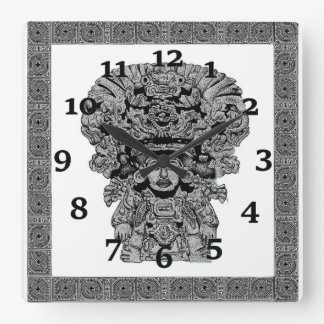 Zapotec God of Maize Square Wall Clock