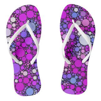 Zappy Bubbles,pink Flip Flops