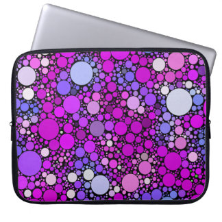 Zappy Bubbles,pink Laptop Sleeve