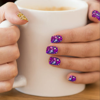 Zappy Bubbles,pink Minx Nail Art