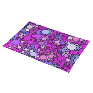 Zappy Bubbles,pink Placemat