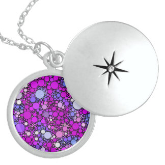 Zappy Bubbles,pink Sterling Silver Necklace