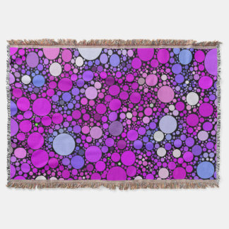 Zappy Bubbles,pink Throw Blanket