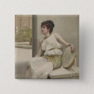 Zara, A Dancing Girl by Frank Markham Skipworth 2 Inch Square Button