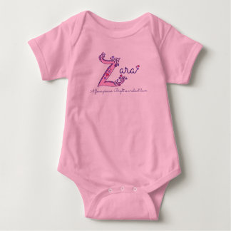 Zara girl's Z name meaning monogram shirt
