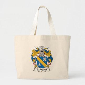 Zaragoza Family Crest Large Tote Bag