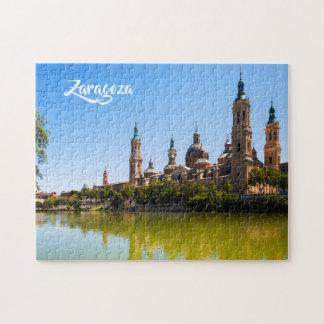 Zaragoza Spain custom text photo puzzles