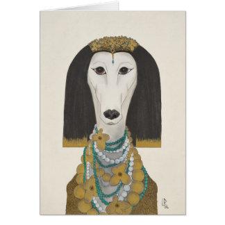 Zarah, the Saluki Card