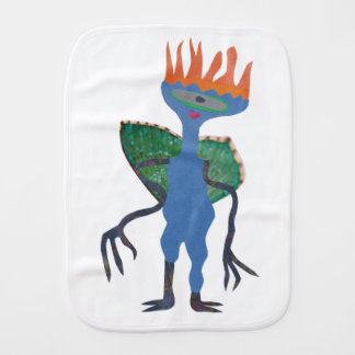 Zarpan  the space friend burp cloth