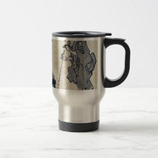 Zato and a lacquer craftsman Ukiyoe Coffee Mug