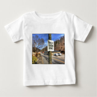 ZAZ340 Senior Citizen Crossing Baby T-Shirt