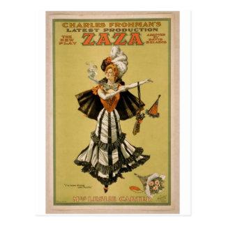 Zaza, 'Mrs Leslie Carter' Vintage Theater Postcard