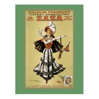 """Zaza"" Vintage Theater Postcard"