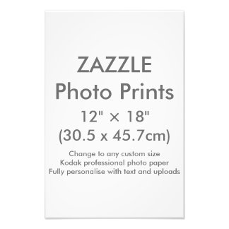 "Zazzle Custom 12"" × 18"" Photo Print Template"