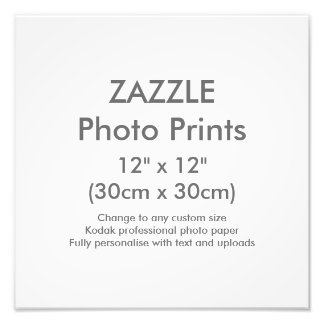 "Zazzle Custom 12"" x 12"" Photo Print Template"