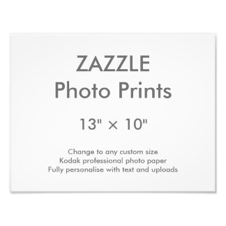 "Zazzle Custom 13"" × 10"" Photo Print 33 x 25 cm"
