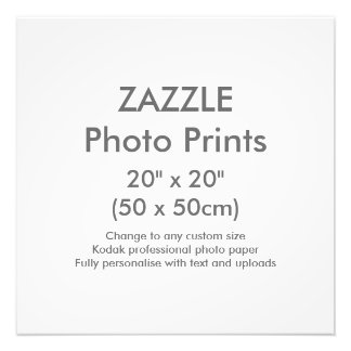 "Zazzle Custom 20"" x 20"" Photo Print Template"