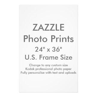 """Zazzle Custom 24"""" x 36"""" Photo Print  US Frame Size"""