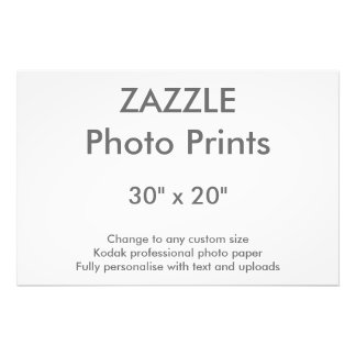 "Zazzle Custom 30"" x 20"" Photo Print 76 x 51 cm"