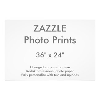 "Zazzle Custom 36"" x 24"" Photo Print 91 x 61 cm"