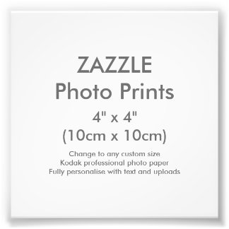 "Zazzle Custom 4"" x 4"" Photo Print Template"